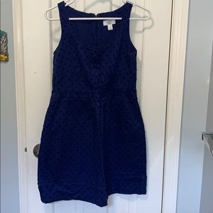 Loft 2p blue sun dress